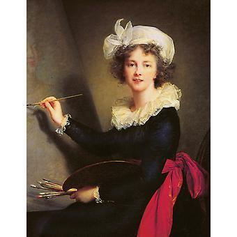 Self-Portrait, Elisabeth-Louise Vigee-Lebrun, 50x40cm