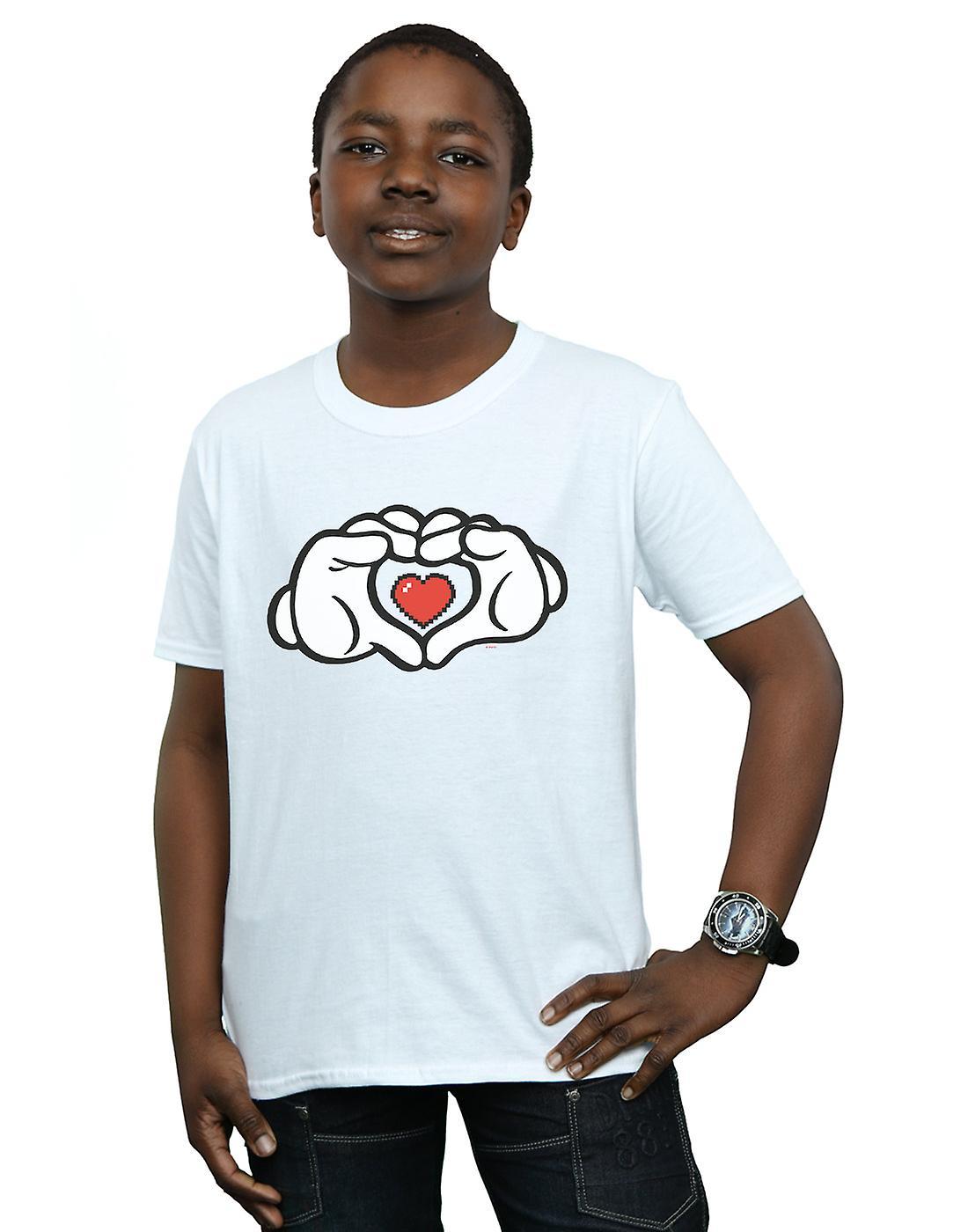 Disney Boys Mickey Mouse Heart Hands T-Shirt