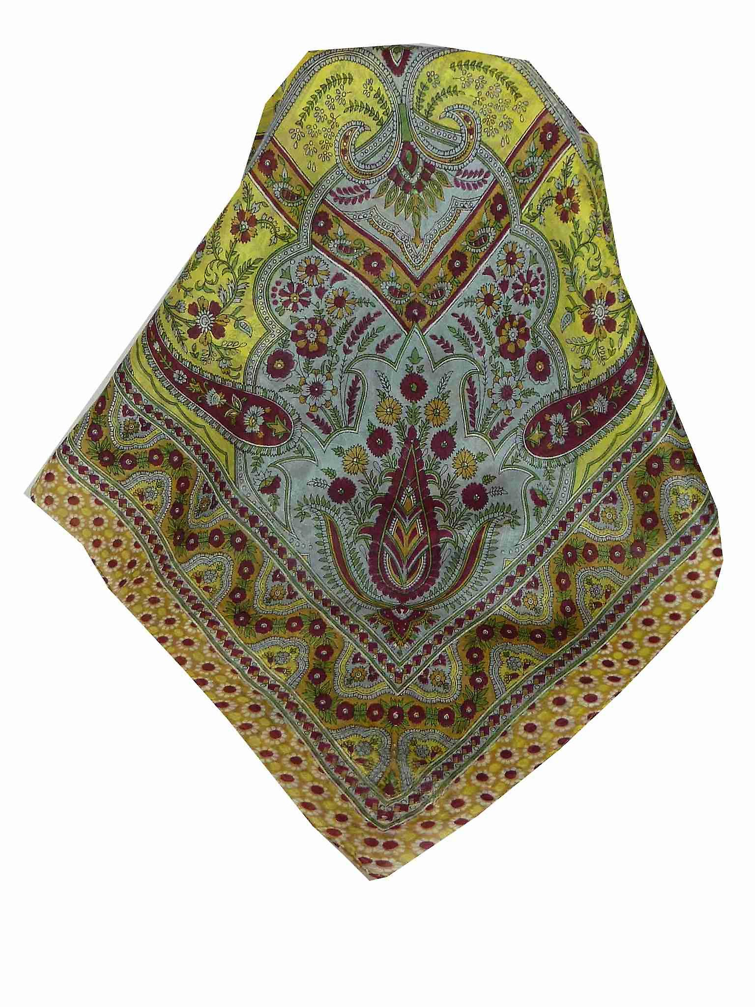 Mulberry Silk Traditional Square Scarf Ami Wine by Pashmina & Silk