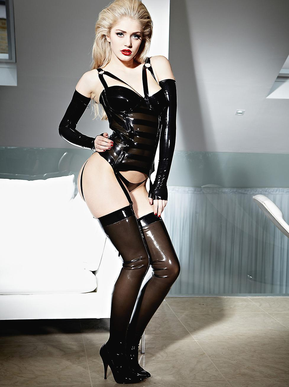 Honorer les bas Sexy de femmes en Costume de Latex Rubber Mistress Roleplay