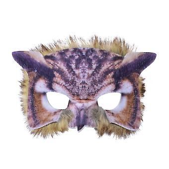 Owl Face Mask Realistic Plumage