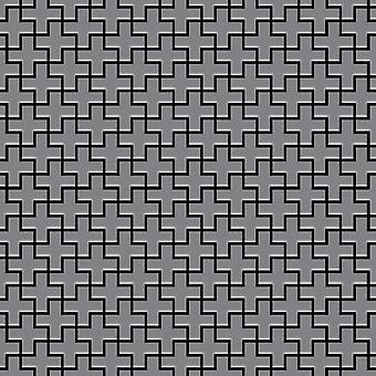 Metal mozaik rozsdamentes acélötvözet Swiss-Cross-S-MA