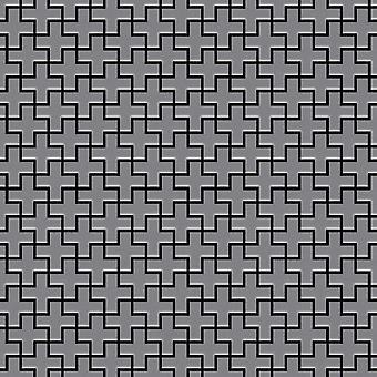 Metall mosaik rostfritt stål legering Swiss-Cross-S-S-MA