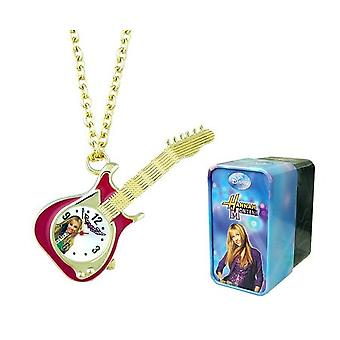 Hannah Montana Girls Analogue Goldtone Guitar Pendant Watch On 27 Inch Chain