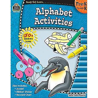 Activités de l'alphabet, Pre-K par K [avec 180 + autocollants] (prêts-ensemble-apprendre)