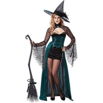 Womens Enchantress Witch Halloween Gothic Fancy Dress Costume