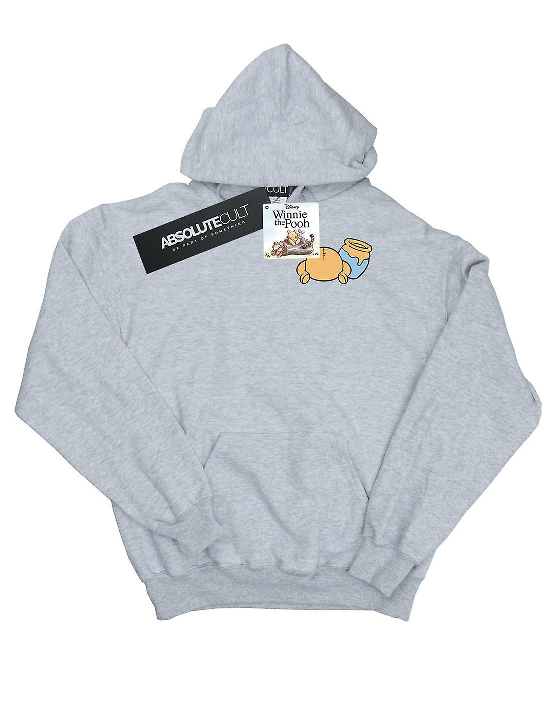 Disney Men's Winnie The Pooh Backside Breast Print Hoodie