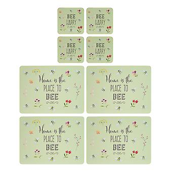 English Tableware Co. Bee Happy Placemats and Coasters