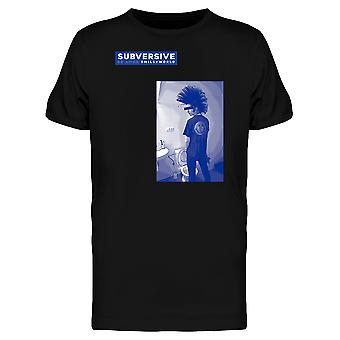 SmileyWorld Punk With Mohawk Subversive Men's T-shirt