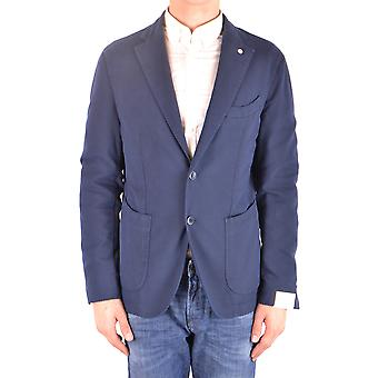 L.b.m. Ezbc215015 Men's Blue Cotton Blazer