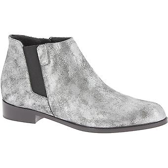 Giuseppe Zanotti Women's low heel ankle boots silver laminated calf leather