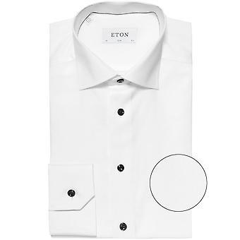 Eton Slim Fit camisa sarga