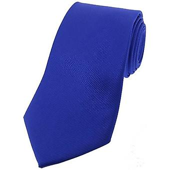 David Van Hagen diagonale a costine cravatta in seta - blu reale