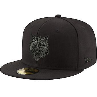 Nieuwe Era 59Fifty Cap-NBA BLACK Minnesota Timberwolves