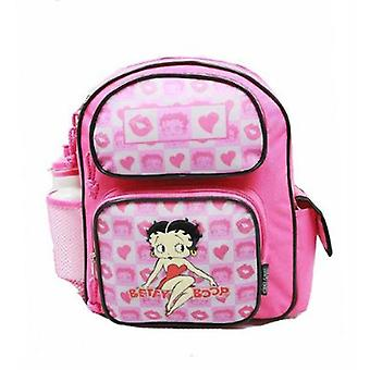 Small Backpack - Betty Boop - w/ Water Bottle New School Bag Book Girls 34485