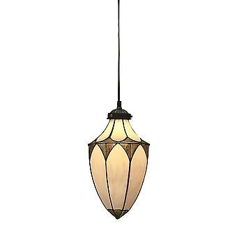 Brooklyn estilo Tiffany pequeno bolota um teto luz pingente - interiores 1900 63975