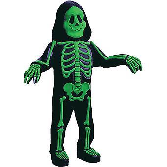Green Skeleton 3D Toddler Costume