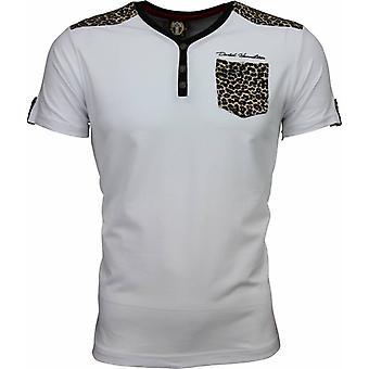 T-shirt-Tiger Print motif-White