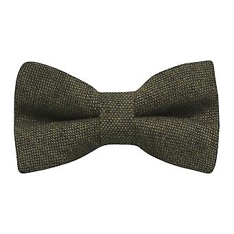 Highland Weave Forest Green Bow Tie