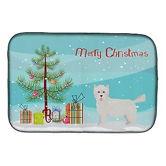 Carolines Treasures  CK3879DDM Westiepoo #2 Christmas Tree Dish Drying Mat