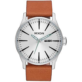 Nixon sentry leather Quartz Analog Man Watch with Cowskin Bracelet A1052853