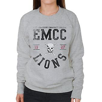 East Mississippi Community College Lions Skull Logo Women's Sweatshirt