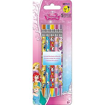 Colored Mechanical Pencils - Disney - Princess - 5Pcs New Toys Gifts  iw2513