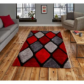 Noble House 9247 Gris Red Rectangle Rugs Plaine / Presque Plaine Rugs
