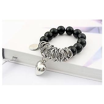 Pärlarmband / Armband Med Pärlor (Svart/Silver)