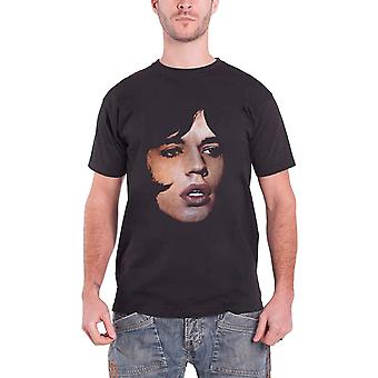 La camiseta de los Rolling Stones Mick Jagger Retrato Logotipo Oficial Hombres Nuevo Negro