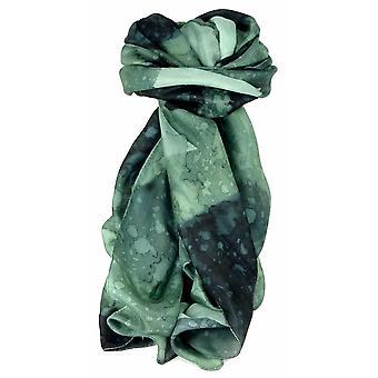 Herren Maulbeerseide Von Hand bemalt langen Schal Kohle von Pashmina & Seide