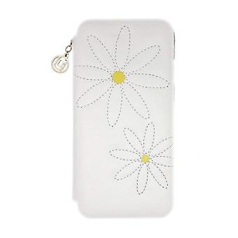 iPhone 6/6s - 4.7 Inch Quilted White Daisy Folio Hard Shell