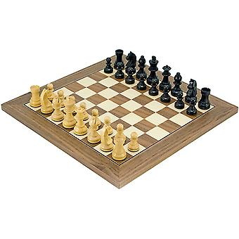 Down Head Classic Black Deluxe Chess Set