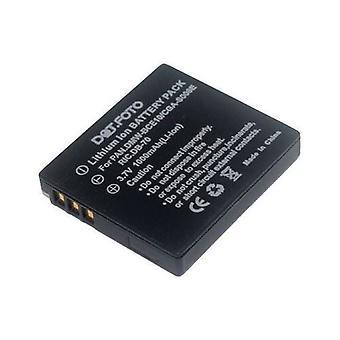 Panasonic VW-VBJ10, batería de repuesto VW-VBJ10E-K de Dot.Foto - 3.7v / 1000mAh - 2 años de garantía - Panasonic HM-TA1 / SDR-H26, SDR-S10, SDR-S15, SDR-S25, SDR-S26, SDR-S7, SDR-S9, SDR-SW20, SDR-SW21
