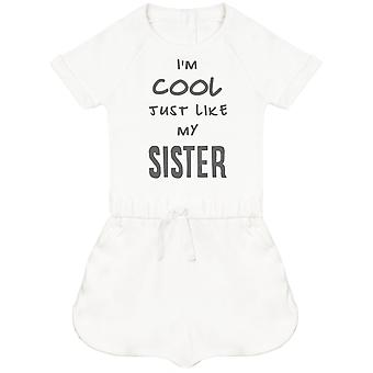 I'm Cool Just Like My Sister Baby Playsuit