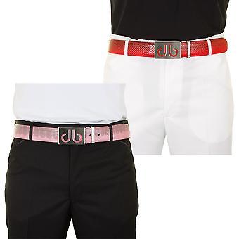 Druh Mens Premium Skórzany pas golfowy - 2 klamry