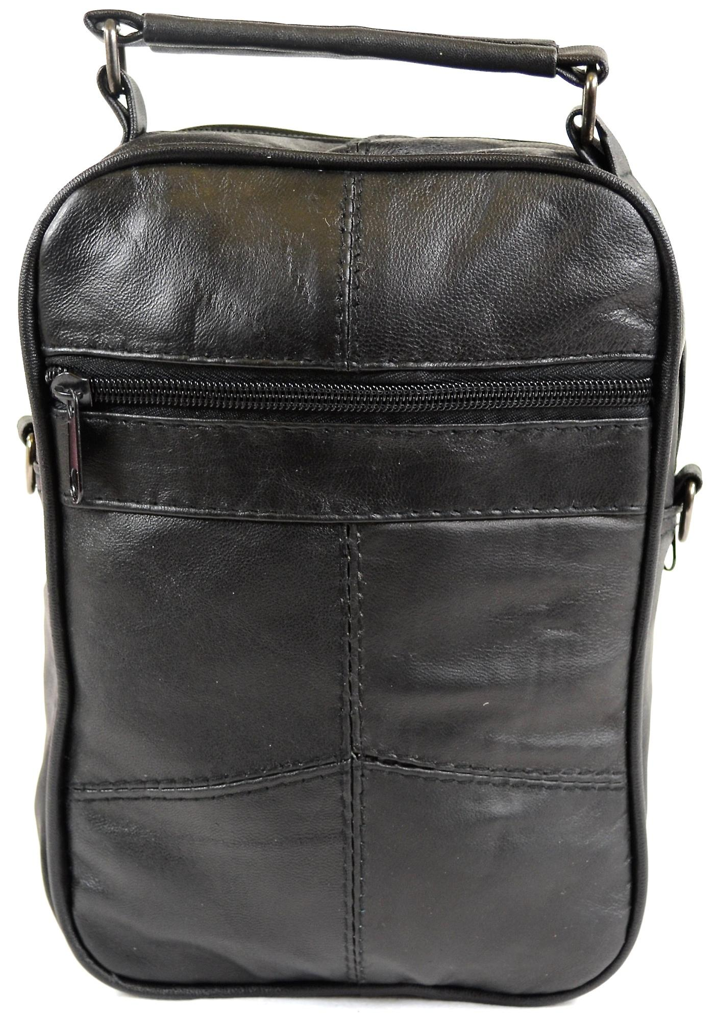 Mens / Ladies Super Soft Nappa Leather Shoulder / Carry Travel / Flight Bag with Multiple Pockets