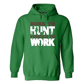 Män ' s födda för att jaga hoodie