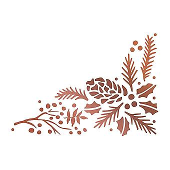 Couture Creations Highland Christmas Hotfoil Stamp Pinecone Corner