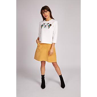 Louche Mendel Velvet Skirt Mustard