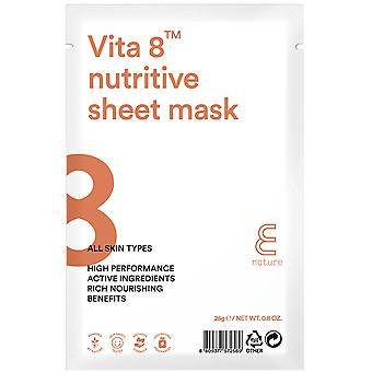 E-Nature Zestaw Vita 8 Nutritive Sheet Mask