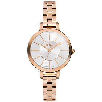 Shows Lee Cooper-LC06175-430 - steel Milan Dor Rose dial white woman