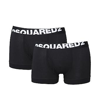 DSquared2 2 Pack Black Cotton Stretch Boxers