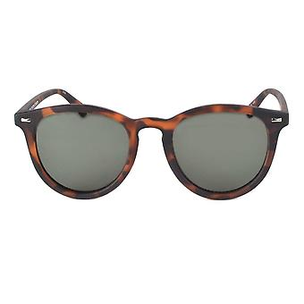Le Specs Fire Starter Matte Tortoise Round Sunglasses