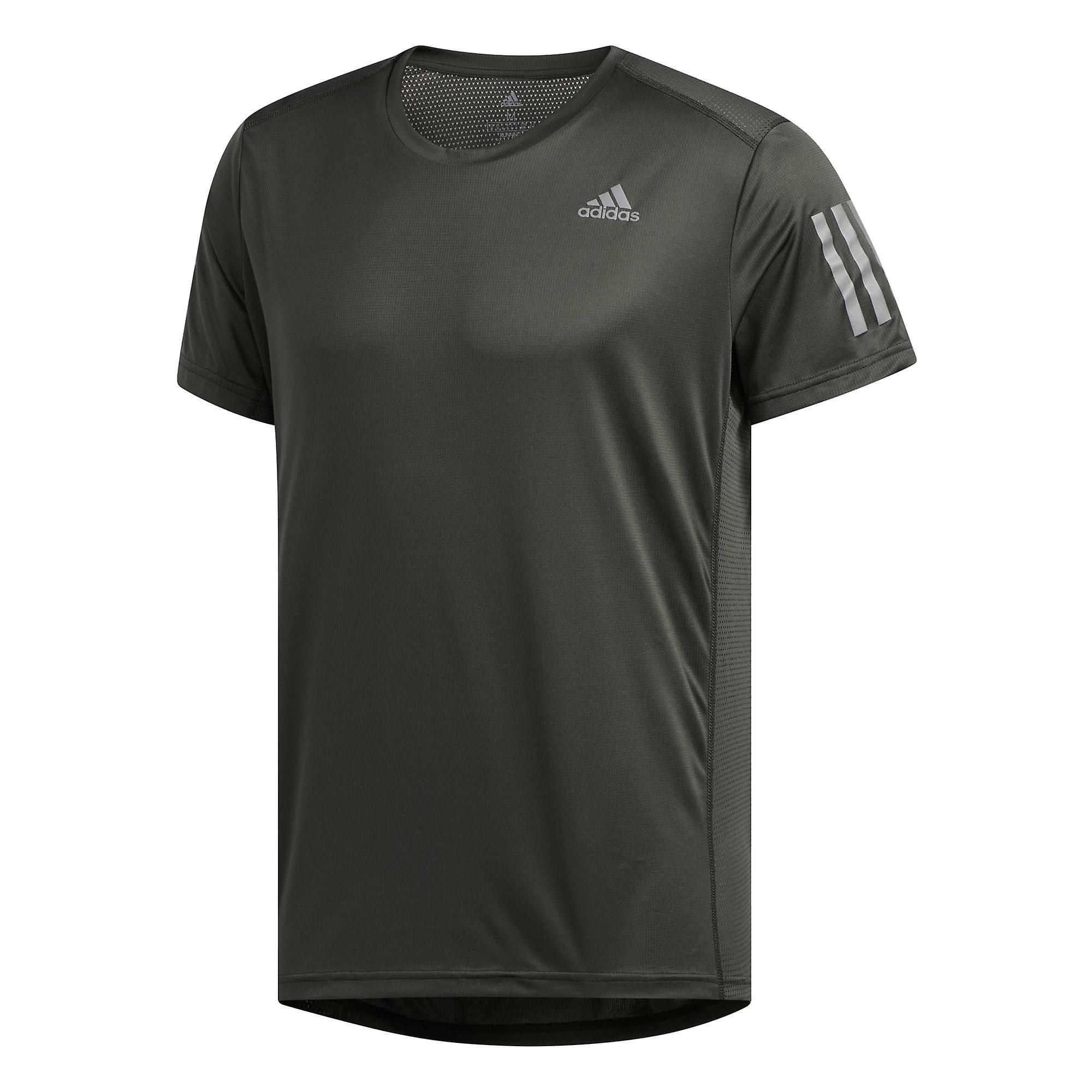 adidas Own The Run Mens Running Fitness Training T-Shirt Tee Grey