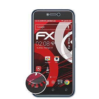 atFoliX 3x Écran protecteur compatible avec Wiko Y50 Protecteur d'écran clair&flexible