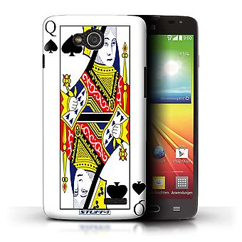 STUFF4 Case/Cover for LG L90 Dual/D410/Queen of Spades/Playing Cards