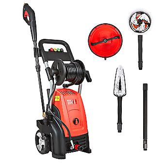 Electric High Pressure Washer with Accessories - Car Bike Patio Hose Jet Cleaner