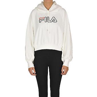Fila Ezgl428002 Kvinnor's Vit Bomull Sweatshirt