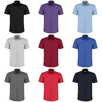 Kustom Kit Mens Short Sleeve sur mesure chemise Popeline